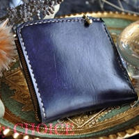 EUヌメ革・L型財布(手染め)(グレープ)