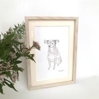 似犬絵 + 額装付き  限定5面(送料込み)