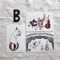 ポストカードセット:B 動物