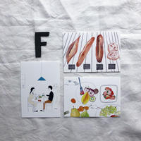 ポストカードセット:F 食卓