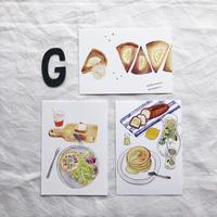 ポストカードセット:G 朝食