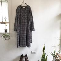 corduroy check trench dress