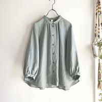 chibi collar P blouse (olive)