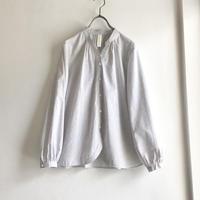 organic cotton spring P blouse  (light gray x white button)