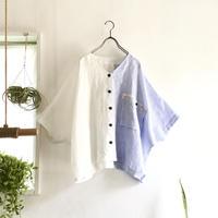 loosey goosey shirt  (white x blue stripe)