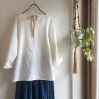 back ribbon top (natural)