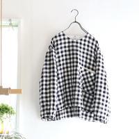 gingham linen chest pocket top