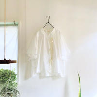 wing p blouse / white cotton
