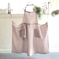 mom Apron with Cloth ( lavender )