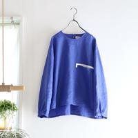 french linen chest pocket top (cobalt blue)