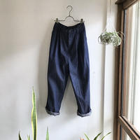 linen denim circle pocket pants