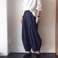 linen denim squash pants