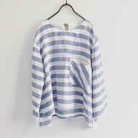 back ribbon top (blue stripe)