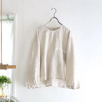french linen chest pocket top (greige)