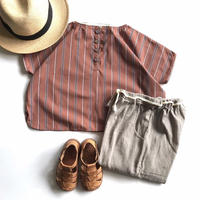 square shirt  - orange stripe