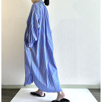 大人用 shirt dress - multi stripes