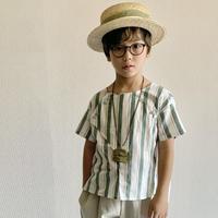 cross shirt 100cm - green stripes