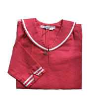 sailor shirt L/S - cotton&linen CHERRY RED