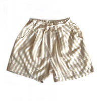 short pants - beige stripes