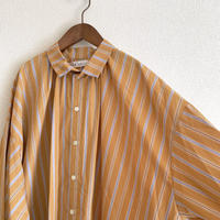大人用 multi stripes shirt dress - orange