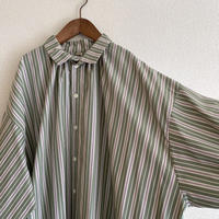 大人用 multi stripes shirt dress - mint green