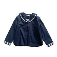 sailor shirt L/S - cotton&linen NAVY