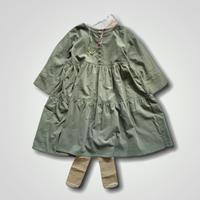 doll style dress - light corduroy MINT