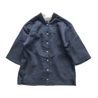Plastron shirt: denim dungarees