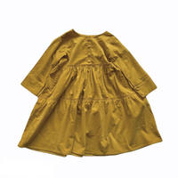 doll style dress - light corduroy  MUSTARD