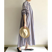 大人用 multi stripes  : shirt dress - lilac