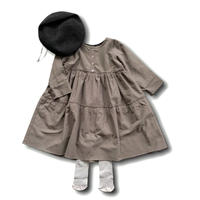 doll style dress - GRAY