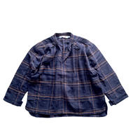 smock shirt - cotton herringbone  NAVY