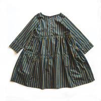 dress - green  x gold stripes