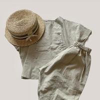KIDS: Tuck pants 100cm   - Light khaki