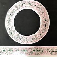 マイセン様式ワインリーフ/カップ&ソーサー用アウトライン転写紙セット