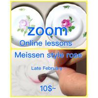 "『zoomマイセンローズ1回目』""Zoom Meissen Rose 1st"""