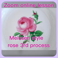 """『zoomマイセンローズ3回目』""""Zoom Meissen Rose 3rd process"""