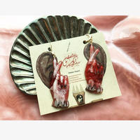 chelsea chiyoco fingers crossed earring/pierce  レッド