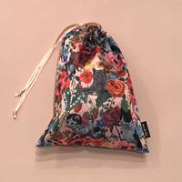 Nathalie Lete(ナタリーレテ)satin drawstring pouch