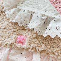 【Cafe Mat】 Lovely ruban fabric Cafe mat(ラブリーリボンファブリックカフェマット)