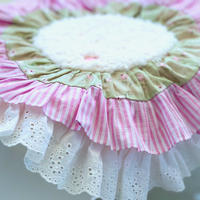 """""""在庫限り終了""""【Cafe Mat】 Vintage Frill  Cafe mat(ヴィンテージフリルカフェマット)"""