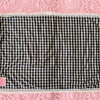 【Cafe Mat】 Vichy  fabric Cafe mat(ヴィシーファブリックカフェマット) BLACK×WHITE