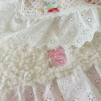 【Cafe Mat】 Lovely Flower fabric Cafe mat(ラブリーフラワーファブリックカフェマット)