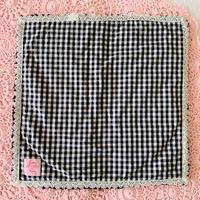 【Cafe Mat】 Vichy  fabric Cafe mat(ヴィシーファブリックカフェマット) BLACK×BLACK
