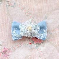 【 Picnic of Marie Antoinette】 マリーアントワネットのピクニックシリーズ Robe en jean(ローブアンジーン)バレッタ