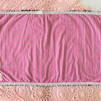 【Cafe Mat】 Vichy  fabric Cafe mat(ヴィシーファブリックカフェマット)PINK× BLACK