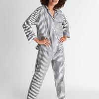 SLEEPY JONES / Marina Pajama Set Breton Stripe Navy & Cream