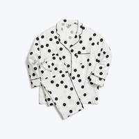 SLEEPY JONES // Marina Pajama Set White&Black Large Polka Dot