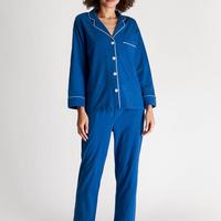 SLEEPY JONES / Knit Marina Pajama Set French Blue Solid Jersey