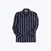 SLEEPY JONES // Silk Henry Pajama Shirt